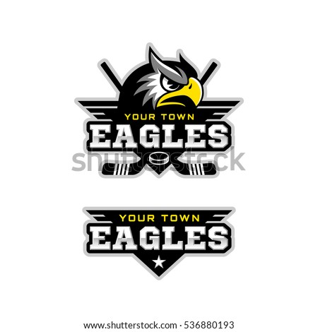 eagle mascot for a hockey team