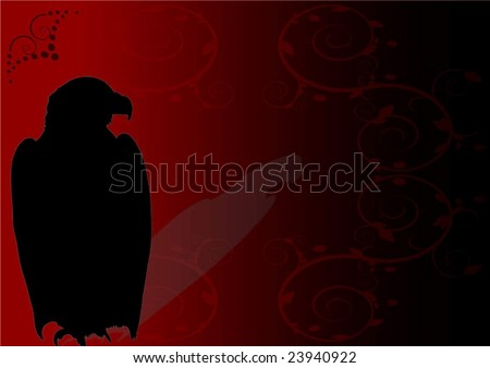 Eagle Logo Red Eagle on a Red Background