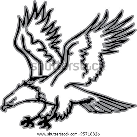 Eagles Logo Outline Eagle Outline Stock Vector