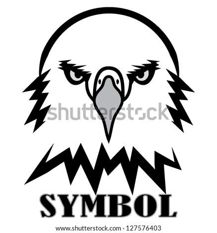 eagle outline black white
