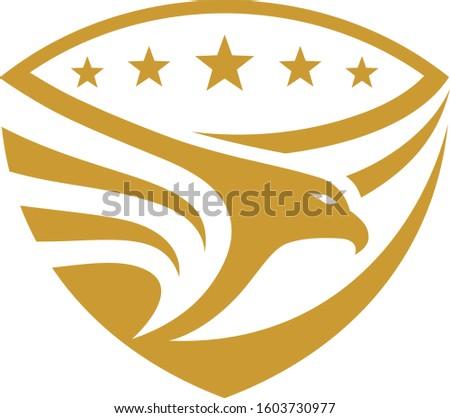 Eagle Stars  shield emblem design