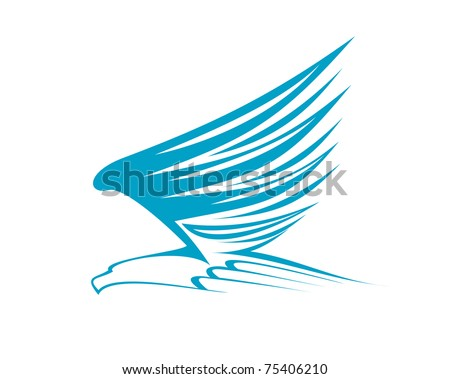 eagle symbol isolated on white