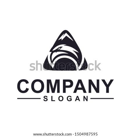 eagle triangle collection logo design