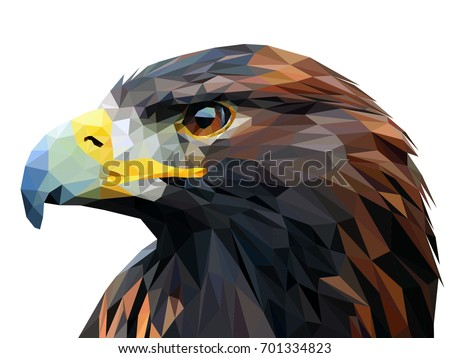 Eagle triangles low poly art vector