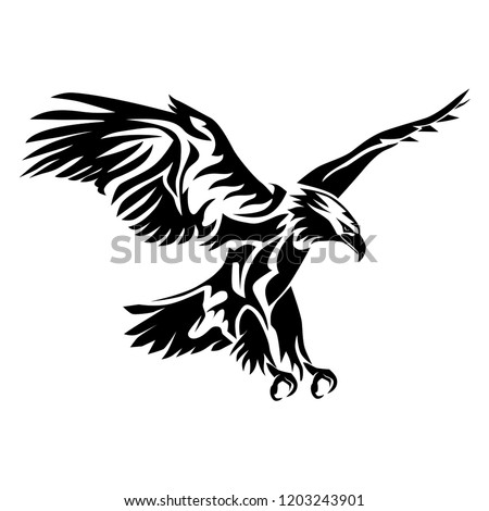 Stock Photo Eagle vector silhouette,tribal abstract illustration