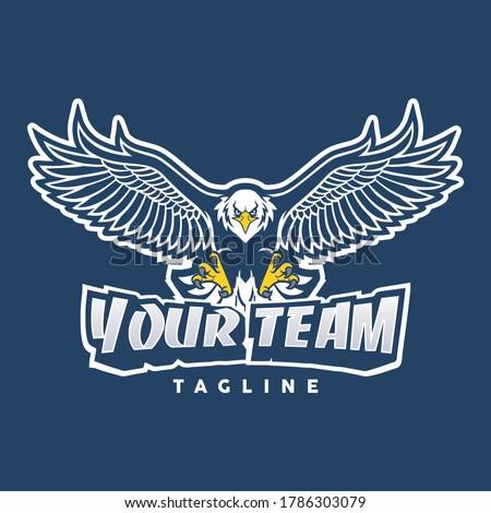 Eagle vintage logo, The flying eagle. Vector emblem. Eagle logo - vector illustration, emblem design on dark background, concept bird eagle