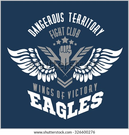 eagle wings   military label