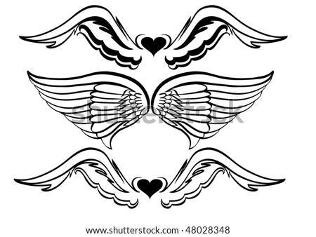 stock vector : Eagle wings tattoo