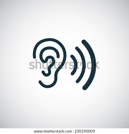 ear icon on white background