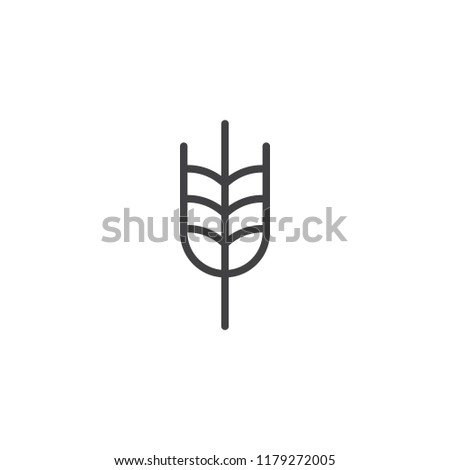 Ear of wheat outline icon. linear style sign for mobile concept and web design. Organic food simple line vector icon. Symbol, logo illustration. Pixel perfect vector graphics