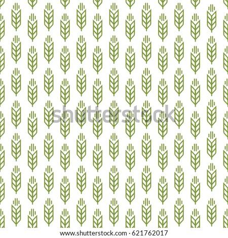 ear seamless pattern green