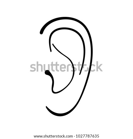 ear simple linear drawing