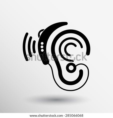Listen Ear Icon Ear Vector Icon Hearing Aid