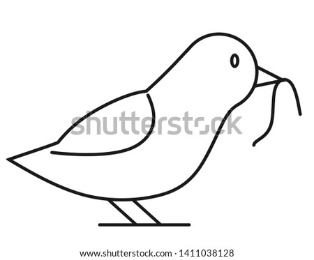 Early Bird Clip Art Black And White