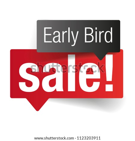 Early bird sale label tag