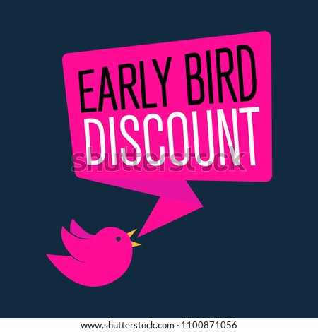 Early Bird Special discount sale event banner or poster, vector illustration