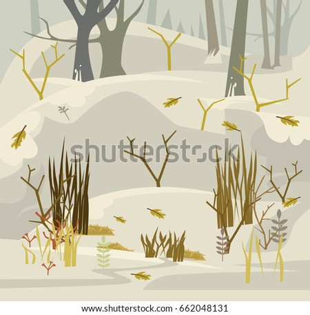 early spring in forest vector