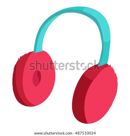 Earmuffs icon in cartoon style isolated on white background vector illustration