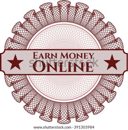 Earn Money Online money style rosette