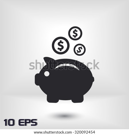 earnings .Vector icon 10 EPS