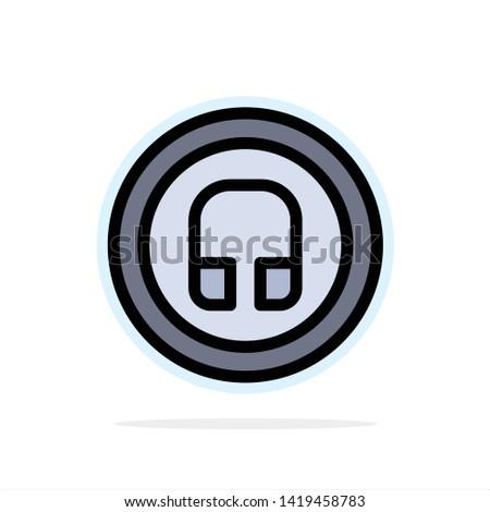 Earphone, Headphone, Basic, Ui Abstract Circle Background Flat color Icon