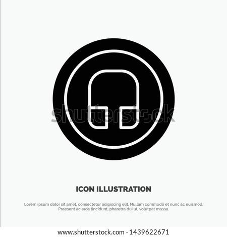 Earphone, Headphone, Basic, Ui solid Glyph Icon vector