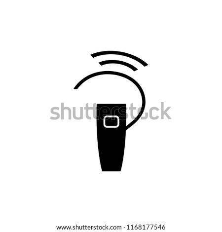 earphone headset, vector icon Сток-фото ©