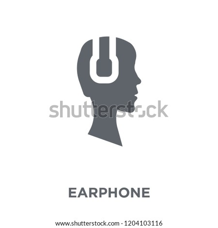 Earphone icon. Earphone design concept from Entertainment collection. Simple element vector illustration on white background.