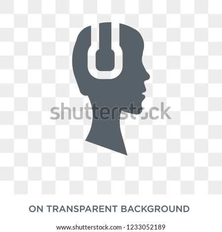 Earphone icon. Earphone design concept from Entertainment collection. Simple element vector illustration on transparent background.