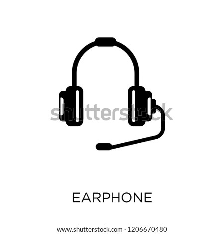 Earphone icon. Earphone symbol design from Entertainment collection.