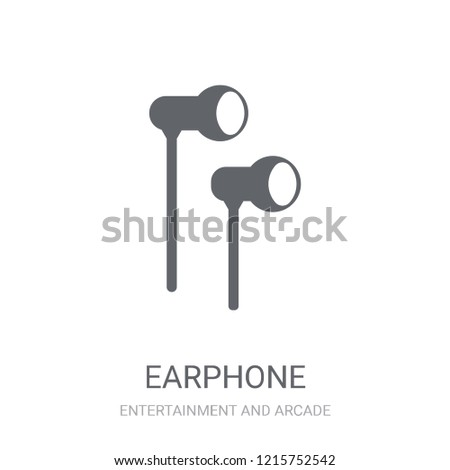 Earphone icon. Trendy Earphone logo concept on white background from Entertainment and Arcade collection. Suitable for use on web apps, mobile apps and print media.
