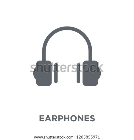 Earphones icon. Earphones design concept from Electronic devices collection. Simple element vector illustration on white background.