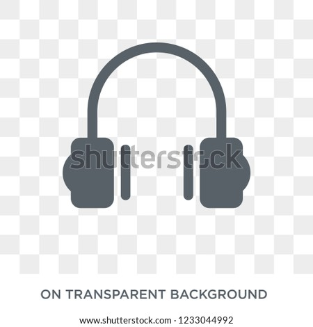 Earphones icon. Earphones design concept from Electronic devices collection. Simple element vector illustration on transparent background.
