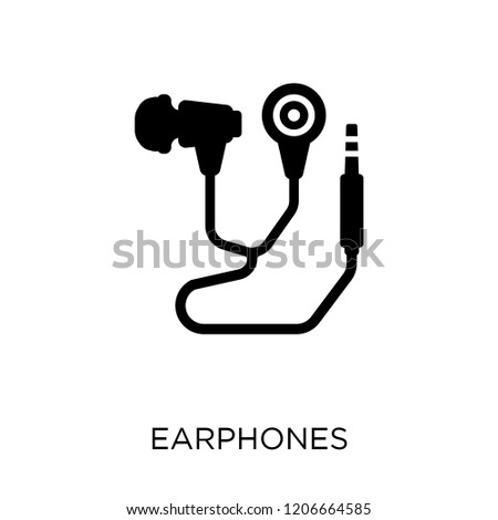 Earphones icon. Earphones symbol design from Electronic devices collection.