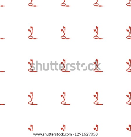 earphones icon pattern seamless white background. Editable filled earphones icon. earphones icon pattern for web and mobile.