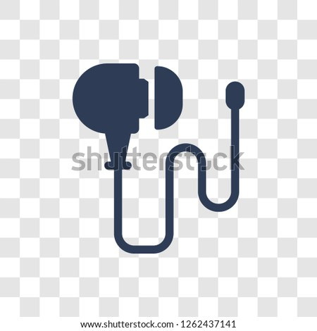 Earphones icon. Trendy Earphones logo concept on transparent background from Electronic Devices collection