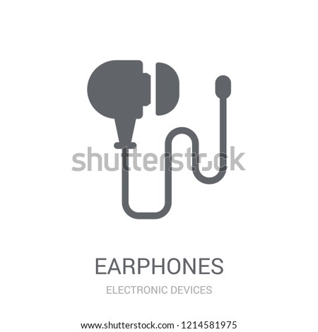 Earphones icon. Trendy Earphones logo concept on white background from Electronic Devices collection. Suitable for use on web apps, mobile apps and print media.