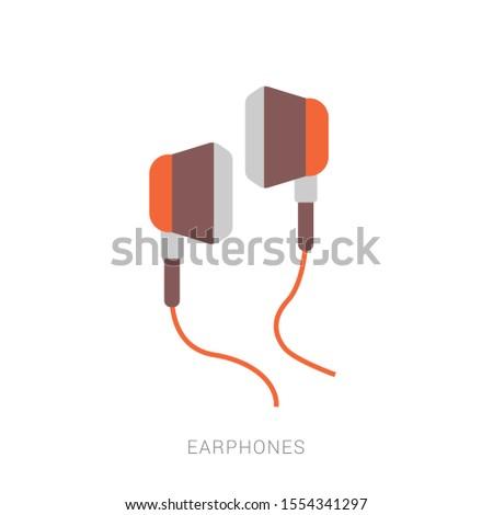 Earphones icon vector. earphones vector graphic illustration