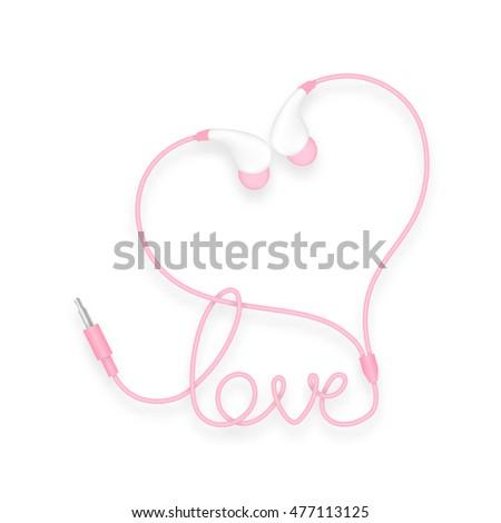 earphones  in ear type pink