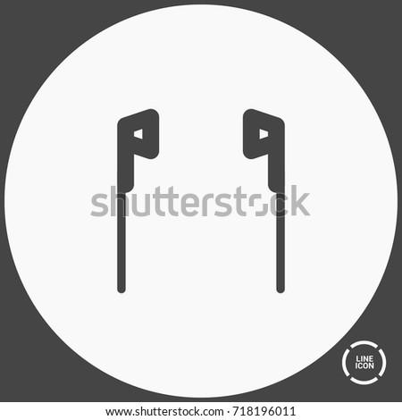 earphones minimal vector icon