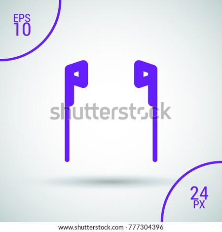 earphones minimal vector icon