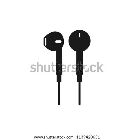 earphones,music,technology icon.digital,stereo,phone,accessory sign.headset,smartphone,cable,listen, headphones icon for web and mobile app