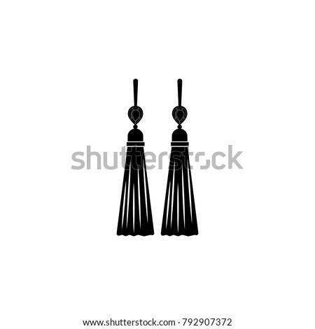 earrings tassels icon jewelry
