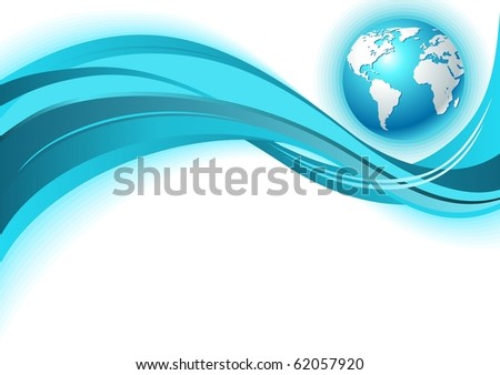 Earth. Abstract blue background