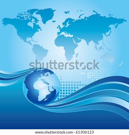 earth and abstract blue background
