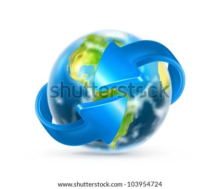 Earth and arrows, vector