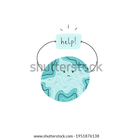 earth asking for help concept