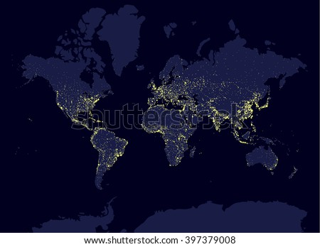 Planet earth vector maps download free vector art stock graphics earth at night world map earth day concept world population biggest cities glow gumiabroncs Image collections