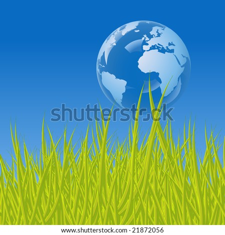 Earth bubble, a conceptual illustration for ecology