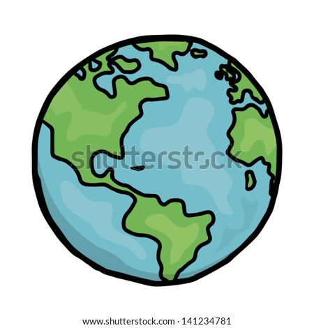 earth / cartoon vector and illustration, hand drawn, isolated on white background.